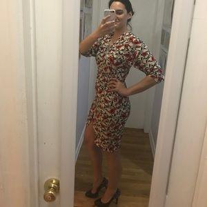 Tucker dolman sleeve 100% silk dress