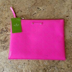 kate spade Handbags - Kate Spade Hot Pink Cosmetic Bag