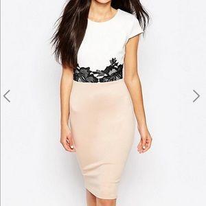 ASOS Dresses & Skirts - ASOS Ax Paris midi dress with crochet waist