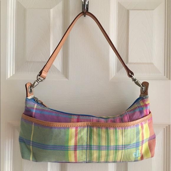 b70bc7611a Lauren Ralph Lauren Handbags - Lauren Ralph Lauren Pastel Plaid Tote Bag