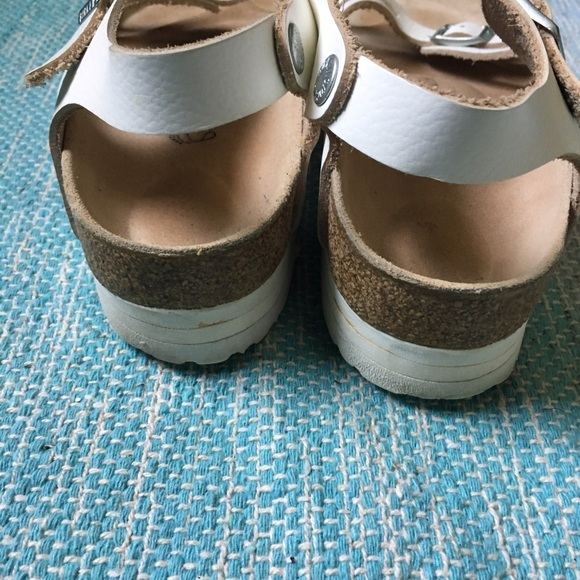 67 Off Birkenstock Shoes Birkenstock White Bali Ankle