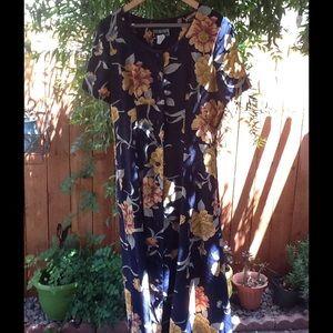 Vintage 90's Grunge Dress Maxi Floral Medium