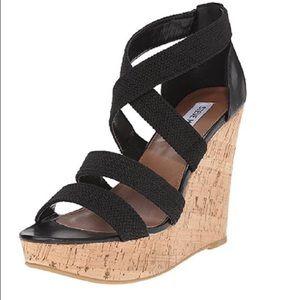 Steve Madden Shoes - Steve Madden Black Strap Sandals