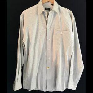 Hugo Boss Men's White Dress Shirt, 15 14 35