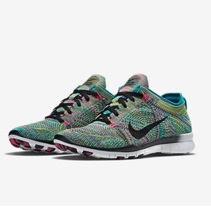 Nike Flyknit Free 5.0 multi color- worn once