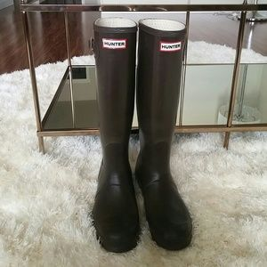 Hunter Boots Shoes - Hunter brown tall womens boots