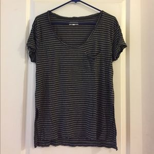 Madewell s/s anthem scoop tee in mini stripe. M.