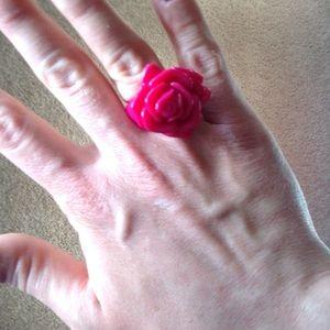 Jewelry - Magenta Flower Ring