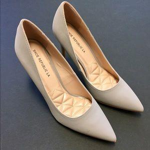 shoe republic la Shoes - Grey suede heels