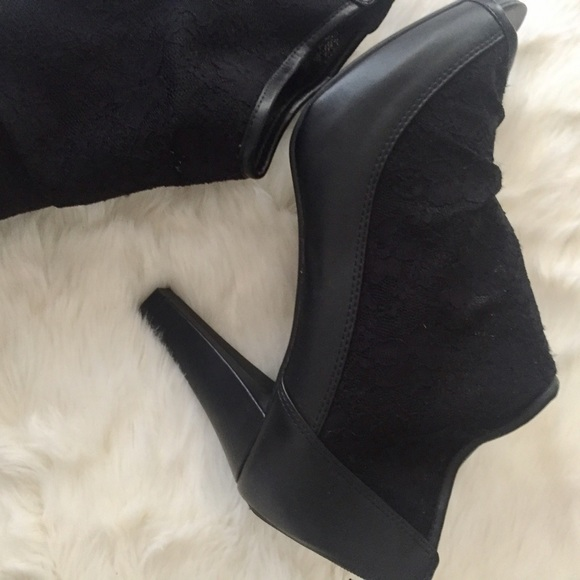 Lane Bryant Shoes - Lace Wide Width Booties