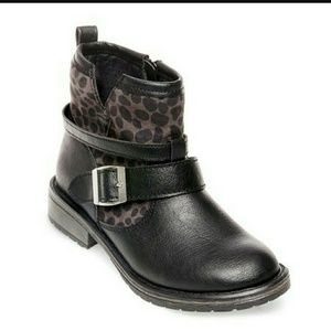 Stevies Other - Girls Leopard fashion boots black
