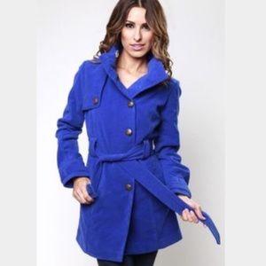 Jack by BB Dakota Jackets & Blazers - Royal blue fleece parka
