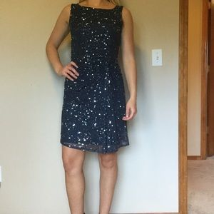 Pisarro Nights Dresses & Skirts - Sequins navy blue dress.
