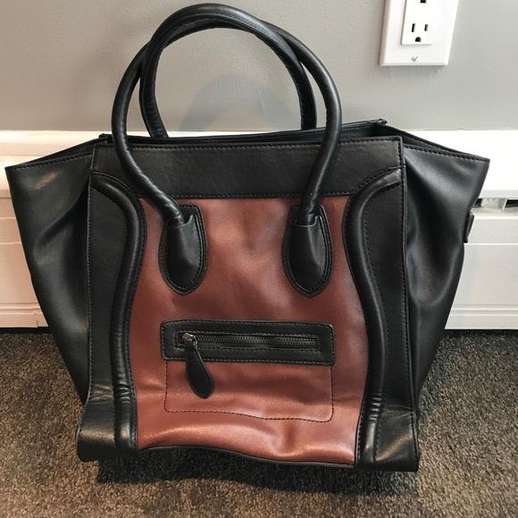 916b9e5198 Handbags - Black and Brown Faux Celine Bag