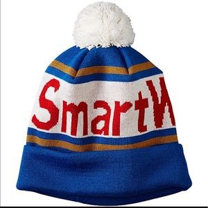 Smartwool Accessories - New Smartwool Retro Spell Out Wool Pom Beanie Blue
