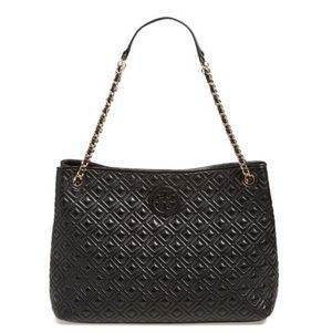 Tory Burch Handbags - Tory Burch Marion Quilted Black Tote