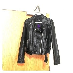 Forever 21 Jackets & Blazers - Faux Leather Moto Zip Jacket