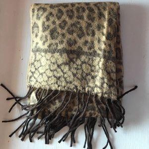 Merona Leopard Print Winter Scarf