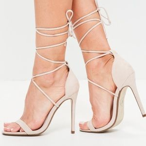 Miss guided lace up heels