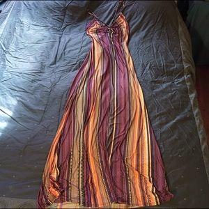 S-Twelve long maxi Dress- vibrant soft -small