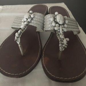 Beverly Feldman Shoes - Bevery Feldman beaded sandals