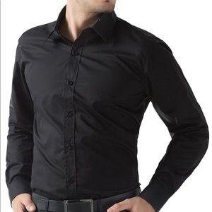 Ike Behar Other - NWT IKE BEHAR black button down sz XL