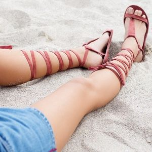 Free People Shoes - NWOT Free People Dahlia lace up sandals