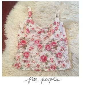 Free People Other - Intimately Free People Cream Floral Lace Bralette