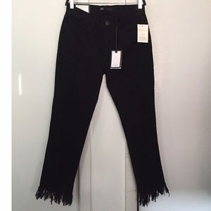 3x1 WM3 cropped fringe jeans - brand new with tags