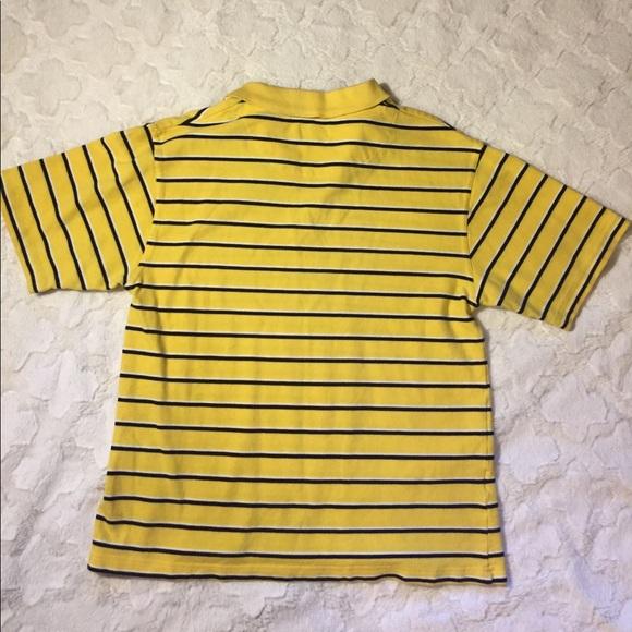 Izod Guc Boys Izod Yellow Navy Polo Shirt L 14 16