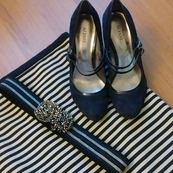 Suade Navy Blue Shoes
