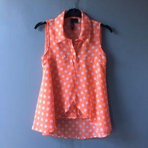 Apollo Jeans Tops - Vintage polka dot flying chiffon blouse