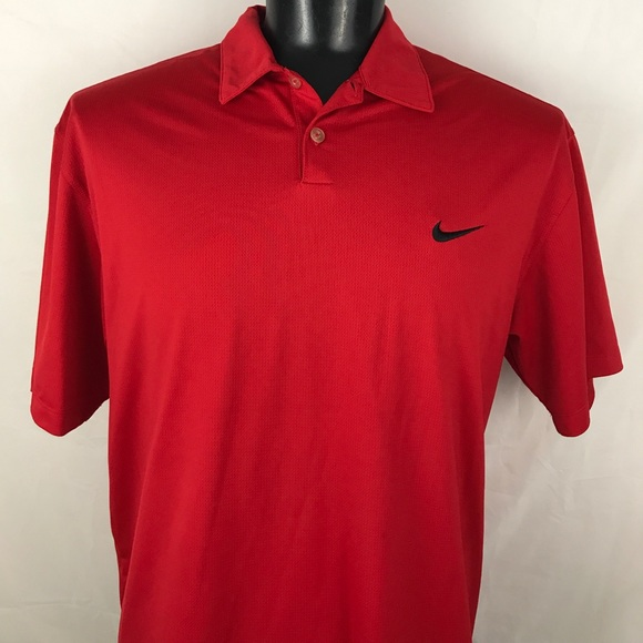 75 off nike other red nike dri fit golf polo shirt from for Nike polo shirts wholesale