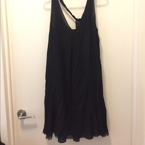 Polo Ralph Lauren Chiffon Slip Dress w/ Ruffle Hem