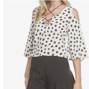 Line & Dot Tops - Line and Dot • Jacqueline Dot Blouse