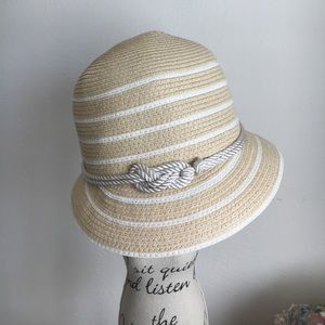 August Hats Accessories - New White/Straw Hat