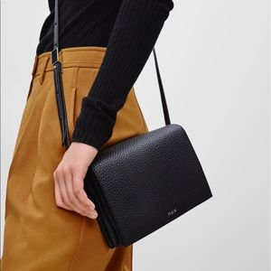 Aritzia Auxliary Should Bag Black Pebble Leather