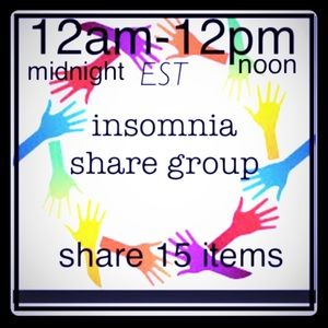 Monday 5/15 insomnia share group