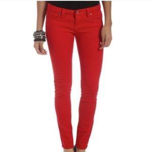 Denim - Red skinnies ❤️