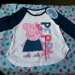 Peppa Pig Other - Peppa pig screen tee. NWT