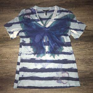 BCBG Tops - Bcbg large butterfly striped shirt