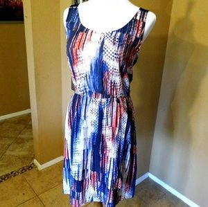 bobeau Dresses & Skirts - 4th of July Dress! Red, White and Blue!