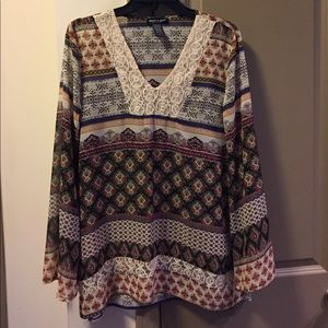 About A Girl Tops - About A Girl Unique Boho Medium Blouse
