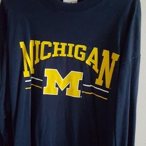 Tops - Oversized large Michigan long sleeved shirt.