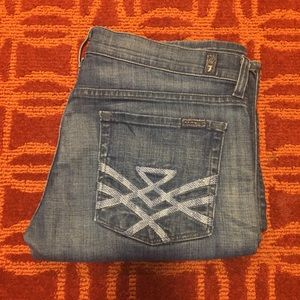7 For All Mankind Denim - 7 for all mankind Edie straight Leg jeans