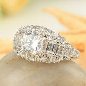 Jewelry - New WGF White CZ Ring Size 6.5