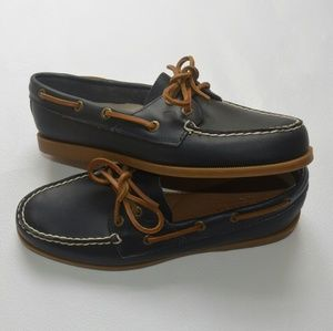 Sperry Shoes - Brand New Sperry Leather Navy Boat Shoes