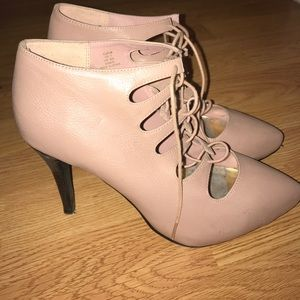 H&M Blush Lace Up Heels