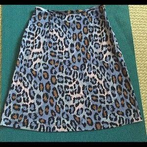 Vintage DVF 💯 silk A - line knee length skirt
