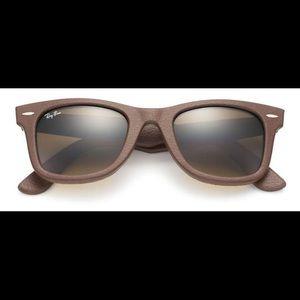 "Ray-Ban Other - RAY BAN ""Wayfarer Leather"" Sunglasses NEW IM BOX"